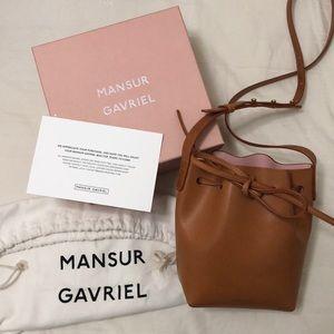 Mansur Gavriel Cammello Mini Mini Bucket Bag